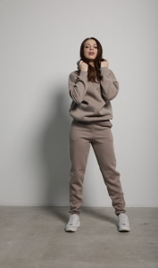 БРЮКИ BASIC COTTON FLEECE COFFEE