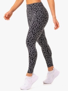 Леггинсы ADAPT Scrunch Grey Leopard